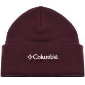 Product Image for Columbia Lifestyle Logo Beanie Hat Burgundy