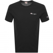 Champion Crew Neck Logo T Shirt Black