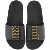 Lacoste Logo Sliders Black