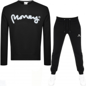Money Sig Ape Crew Neck Tracksuit Black