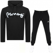 Money Sig Ape Hooded Tracksuit Black