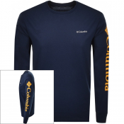 Columbia Long Sleeved North Cascades T Shirt Navy