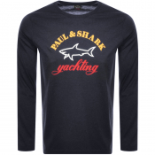 Paul And Shark Long Sleeve Logo T Shirt Black