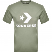 Converse Star Chevron Logo T Shirt Green