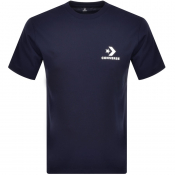 Product Image for Converse Star Chevron Logo T Shirt Navy