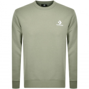 Converse Star Chevron Logo Sweatshirt Green