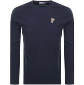 Versace Collection Long Sleeved T Shirt Navy