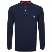 PS By Paul Smith Long Sleeved Polo T Shirt Navy