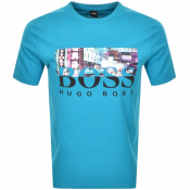 BOSS Casual Trek 4 T Shirt Blue