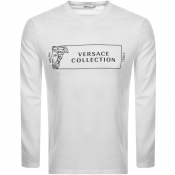 Versace Collection Long Sleeved T Shirt White