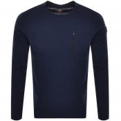 Product Image for Paul And Shark Long Sleeve Crew Neck T Shirt Navy