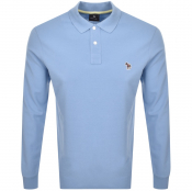Product Image for PS By Paul Smith Long Sleeved Polo T Shirt Blue