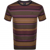 PS By Paul Smith Striped Logo T Shirt Purple