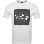Paul And Shark Reflective Logo T Shirt White