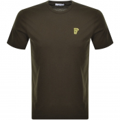 Product Image for Versace Collection Medusa Logo T Shirt Green