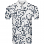Product Image for Versace Collection Short Sleeved Polo TShirt White