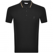 Product Image for Versace Collection Short Sleeved Polo TShirt Black