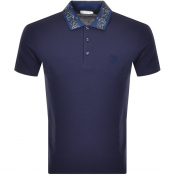 Product Image for Versace Collection Short Sleeved Polo TShirt Blue