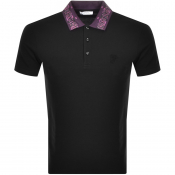 Versace Collection Short Sleeved Polo TShirt Black