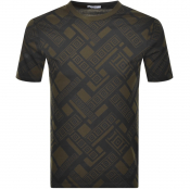 Product Image for Versace Collection Crew Neck Logo T Shirt Green