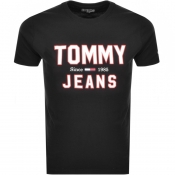 Product Image for Tommy Jeans  Essential 1985 Logo T Shirt Black