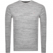 Tommy Jeans long Sleeved Waffle T Shirt Grey