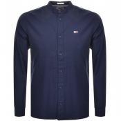 Product Image for Tommy Jeans Long Sleeved Mandarin Shirt Navy