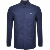 Tommy Jeans Long Sleeved Twill Tape Shirt Navy
