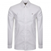 Product Image for Tommy Jeans Long Sleeved Twill Tape Shirt White