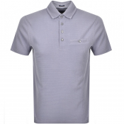 Ted Baker Short Sleeved Hughes Polo T Shirt Purple