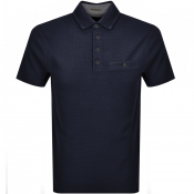 Ted Baker Short Sleeved Hughes Polo T Shirt Navy