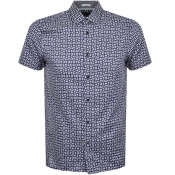 Product Image for Ted Baker Short Sleeved Steeve Shirt Navy