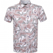 Product Image for Ted Baker Short Sleeved Ozcar Shirt Pink