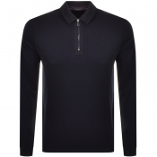 Ted Baker Mytype Long Sleeve Polo T Shirt Navy