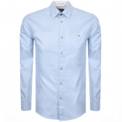 Product Image for Ted Baker Long Sleeved Zachari Shirt Blue