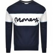 Money College Stripe Logo Sweatshirt Navy