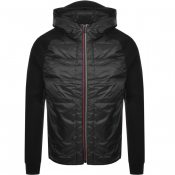 PS By Paul Smith Hybrid Hooded Down Jacket Black