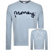 Money Pastel Sig Ape Logo Sweatshirt Blue