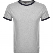 Product Image for Tommy Jeans Ringer T Shirt Grey