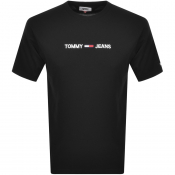 Tommy Jeans Logo T Shirt Black