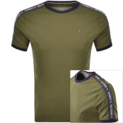 Tommy Hilfiger Round Neck T Shirt Green