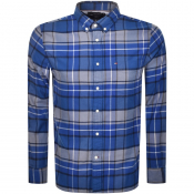 Tommy Hilfiger Long Sleeved Tartan Shirt Blue