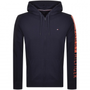 Tommy Hilfiger Lounge Full Zip Logo Hoodie Navy