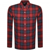 Product Image for Levis Long Sleeved Sunset One Pocket Shirt Red