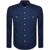 Levis Long Sleeved Barstow Western Shirt Blue
