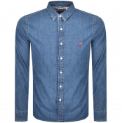 Levis Long Sleeved Battery Shirt Blue