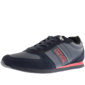 Product Image for Versace Jeans Couture Logo Trainers Navy