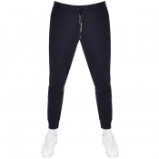 Armani Exchange Logo Jogging Bottoms Navy