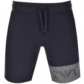 Emporio Armani Lounge Logo Sweat Shorts Navy