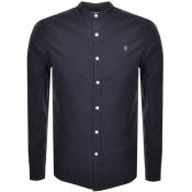 Product Image for Farah Vintage Brewster Grandad Shirt Navy